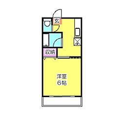 千島ハイツ[203号室]の間取り