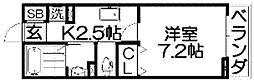 大阪府寝屋川市寿町の賃貸アパートの間取り
