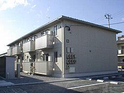 福島県郡山市田村町徳定字八斗蒔田の賃貸アパートの外観