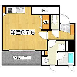 東京都北区滝野川2丁目の賃貸マンションの間取り
