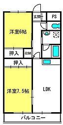 ソレアードミシマ[3階]の間取り