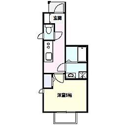 コンフォート B棟[1階]の間取り