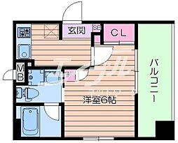 Osaka Metro今里筋線 新森古市駅 徒歩3分の賃貸マンション 3階1Kの間取り