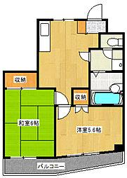 第6メゾン中澤[3階]の間取り