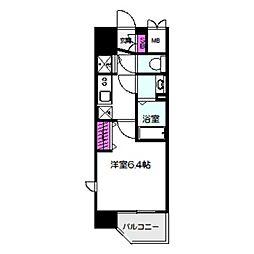 レオンコンフォート京橋 11階1Kの間取り