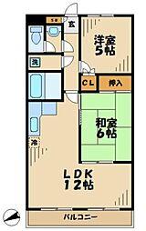東京都多摩市鶴牧2丁目の賃貸マンションの間取り