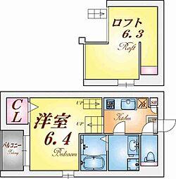 GUFO KOBE【グーフォコウベ】[2階]の間取り