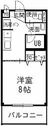 愛知県春日井市松本町の賃貸アパートの間取り