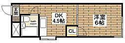 シード平野[4階]の間取り