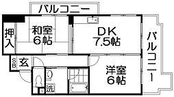 シャトーハイネ[6階]の間取り