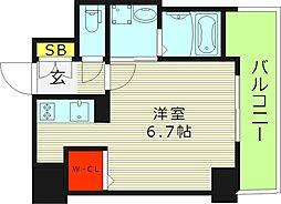 ララプレイス・ザ・京橋ステラ 4階1Kの間取り