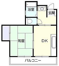 神奈川県横浜市青葉区あざみ野南2丁目の賃貸アパートの間取り
