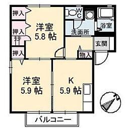 ピュアライフ II[2階]の間取り