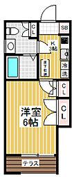 東京都新宿区中落合4丁目の賃貸アパートの間取り