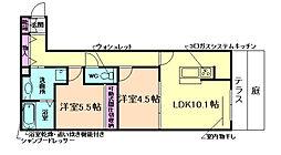 大阪府池田市神田2丁目の賃貸アパートの間取り