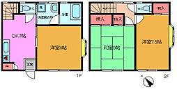 [テラスハウス] 千葉県市川市大和田2丁目 の賃貸【/】の間取り