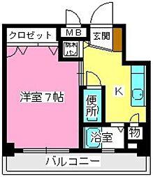 ソシア博多[602号室]の間取り