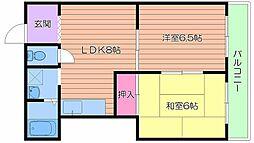 第2大都マンション[4階]の間取り