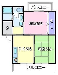 アドバンテージ松原[2階]の間取り