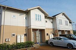 新潟県新発田市大栄町4丁目の賃貸アパートの外観