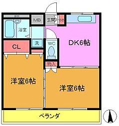 千葉県船橋市西船6丁目の賃貸マンションの間取り