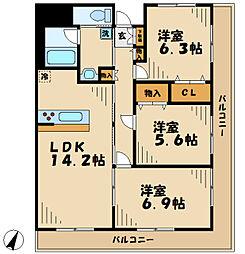 メロディーア[2階]の間取り