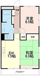 シティ稲城[3階]の間取り