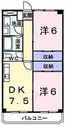 東京都武蔵村山市岸3の賃貸マンションの間取り