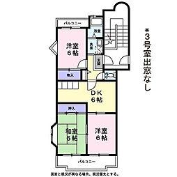 コウジィーコート2階Fの間取り画像