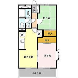 ファミール中野島[1階]の間取り