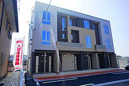 栃木県真岡市下大沼の賃貸アパートの外観