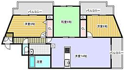 インペリアルシャトー[2階]の間取り