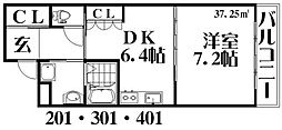 セントグレース[2階]の間取り
