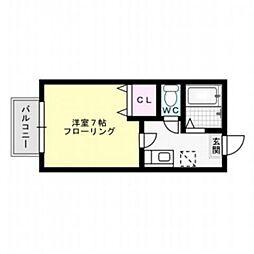 スプリング・コア[1階]の間取り