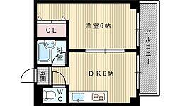 第11関根マンション[6階]の間取り