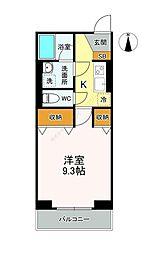 東武伊勢崎線 獨協大学前駅 徒歩7分の賃貸マンション 3階1Kの間取り