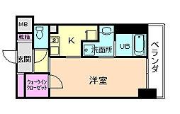 大阪府豊中市庄内東町2丁目の賃貸マンションの間取り