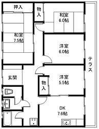 ベルビー21[1階]の間取り