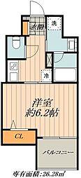 JR山手線 御徒町駅 徒歩1分の賃貸マンション 3階1Kの間取り