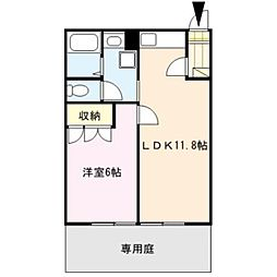 三番館[1階]の間取り