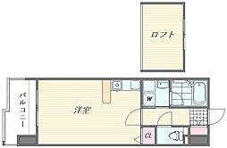 ウエストサイド箱崎[8階]の間取り
