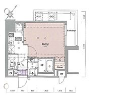 アソシアグロッツォ博多セントラルタワー[1005号室]の間取り