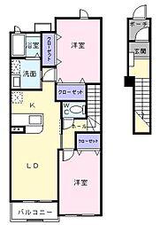 ヴィルヌーブA館[2階]の間取り