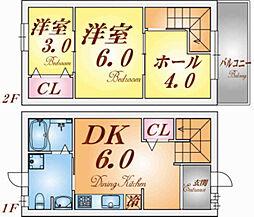 [テラスハウス] 兵庫県神戸市兵庫区都由乃町2丁目 の賃貸【/】の間取り