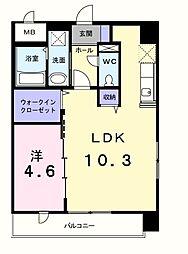 カーザ クラーラ 3階1SLDKの間取り