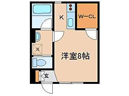 神奈川県横浜市西区東久保町の賃貸マンションの間取り
