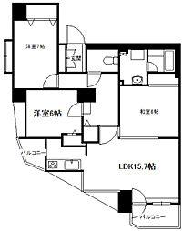北海道札幌市中央区南十三条西21丁目の賃貸マンションの間取り
