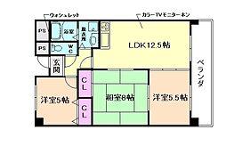 大阪府豊中市柴原町2丁目の賃貸マンションの間取り