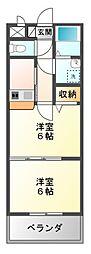 愛知県豊橋市大国町の賃貸マンションの間取り