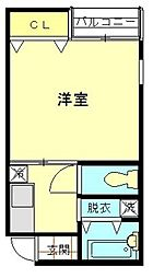 Liverare 福大前II[102号室]の間取り